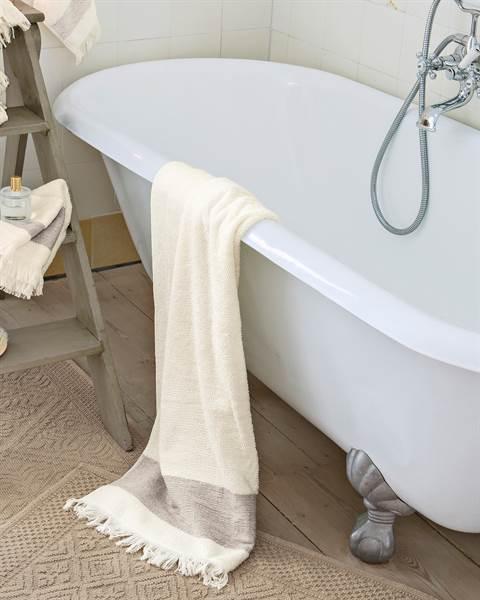 Duschhandtuch antikweiß