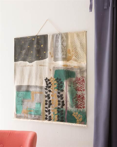 Wandbehang handbemalt, bunt
