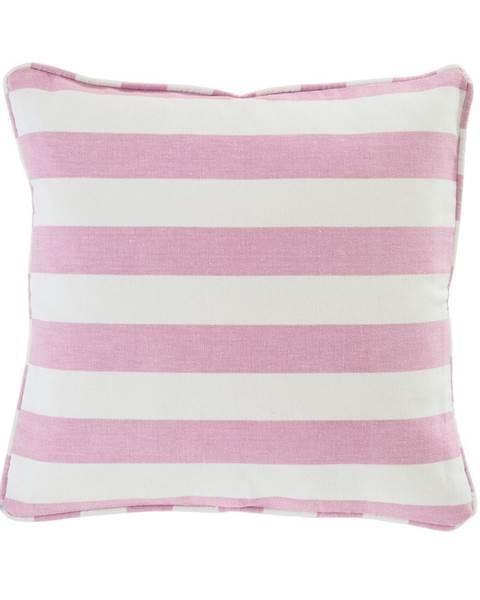 Blockstreifenkissenhülle pink weiß