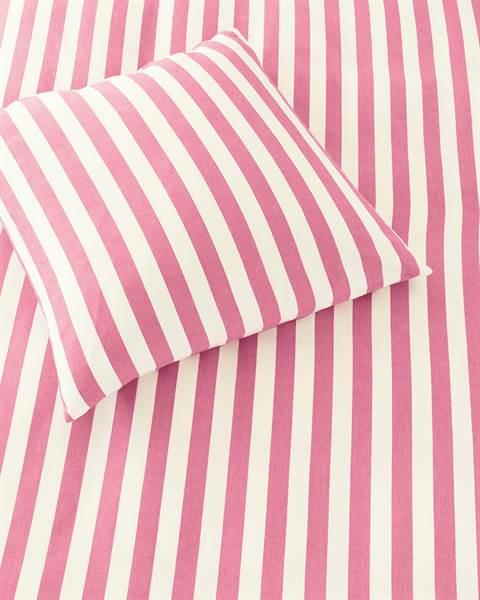 Bettwäsche pink-weiß