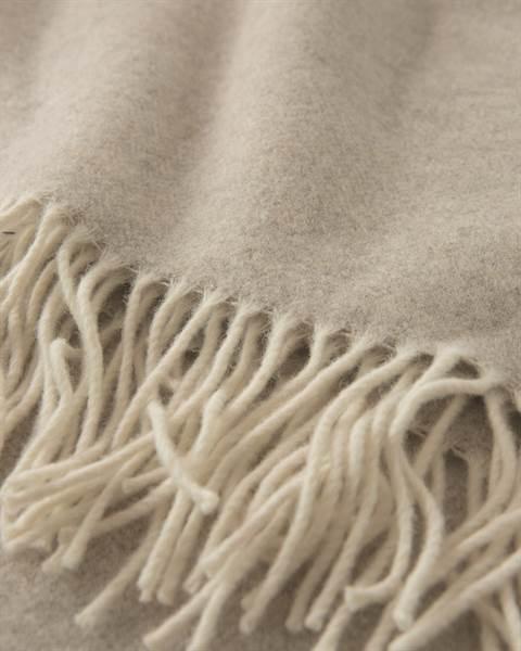 Wolldecke beigefarben