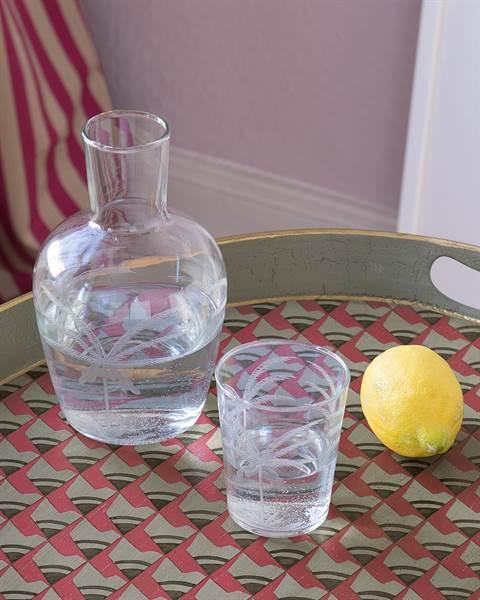 Trinkglas Palme
