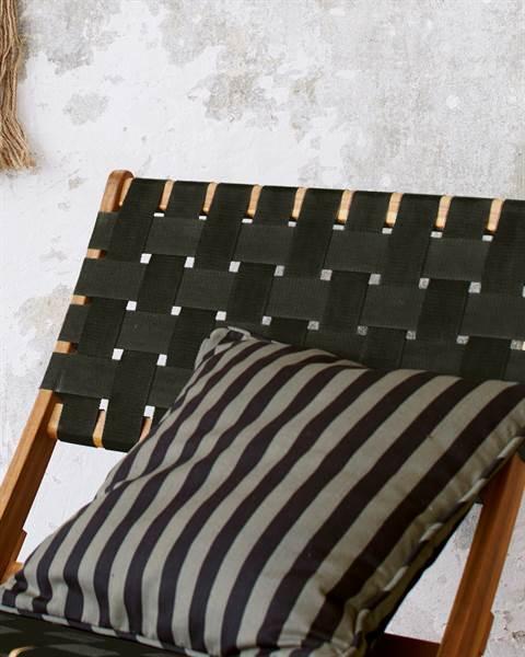 Streifenkissenhülle schwarz-grau