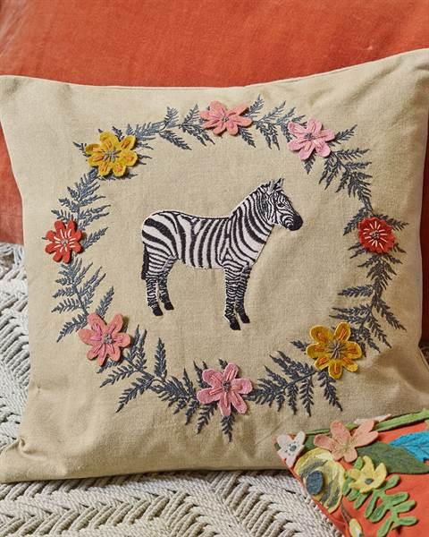 Kissenhülle Zebra
