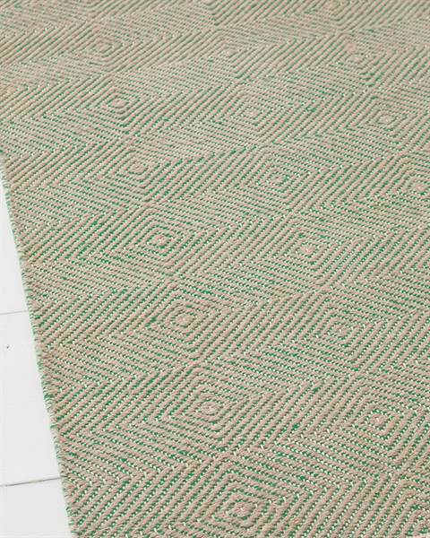 Diamantteppich, sandfarben-türkis