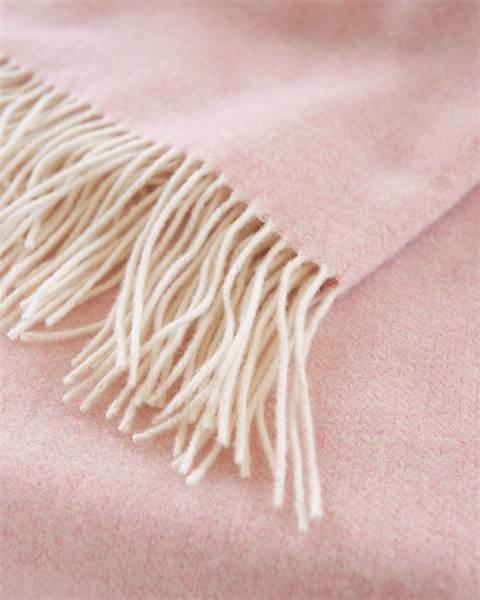 Wolldecke rosa
