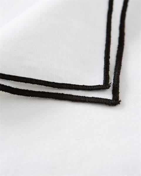 Serviette, schwarz, weiß