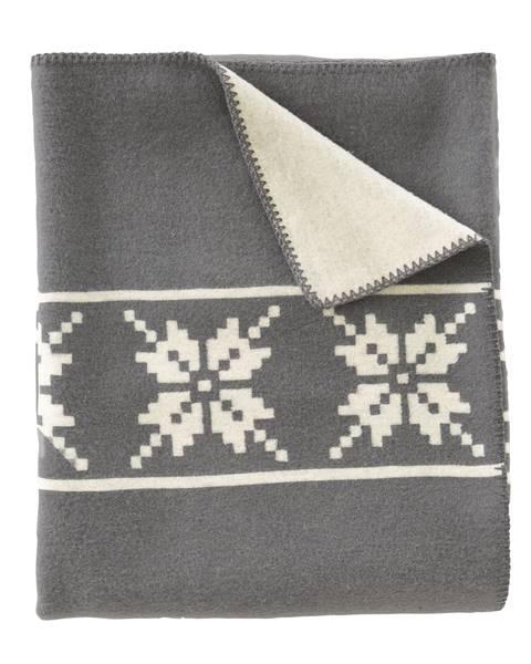 Wolldecke, grau-weiß