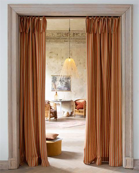 Vorhang maroon-beige