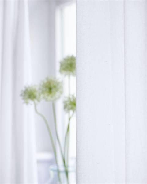 Vorhang Weboptik weiß