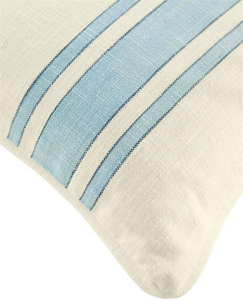Kissenhülle blau-weiß