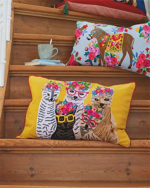 Kissenhülle Katzen