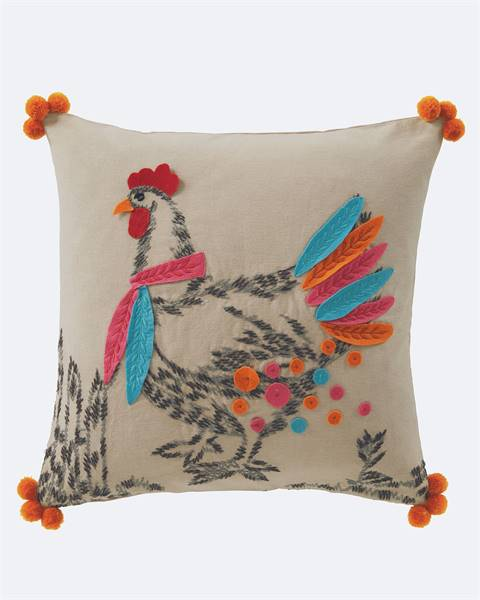 Kissenhülle buntes Huhn
