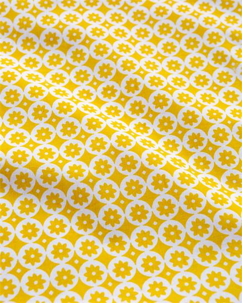Kissenhülle weiß-gelb