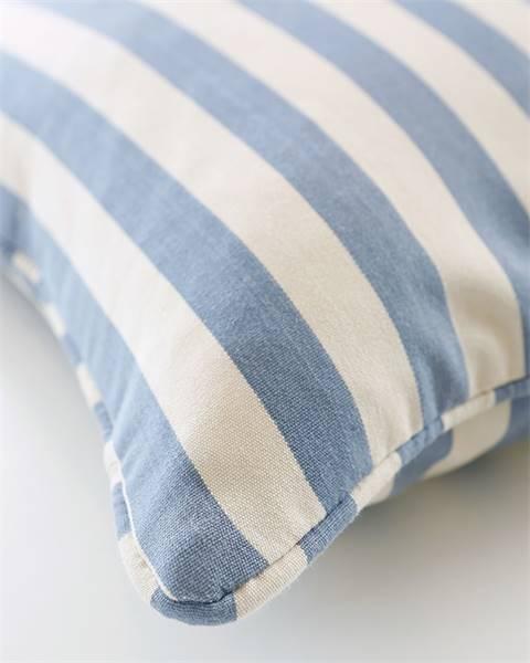 Kissenhülle, blau-weiß