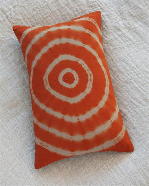 Batikkissen Kreise orange