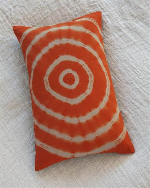Batikkissen Kreise orange