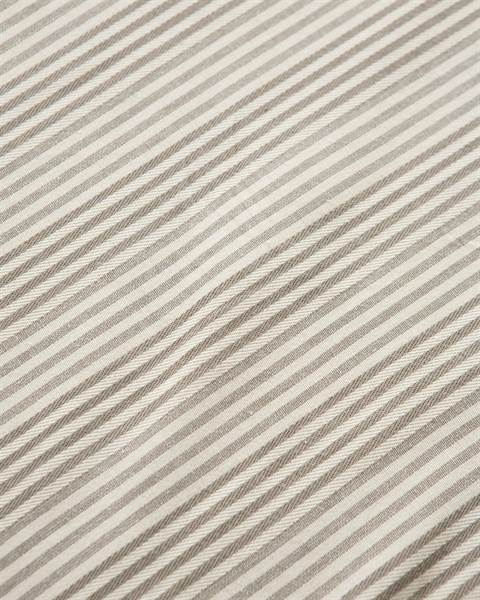 Betttuch beige-gestreift