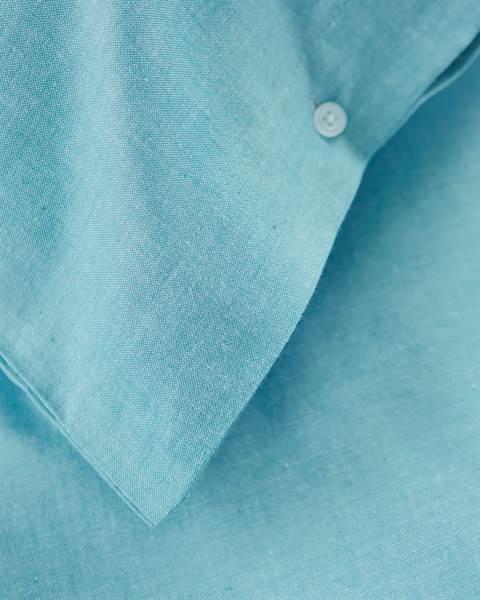Chambraybettwäsche Himmelblau Detail