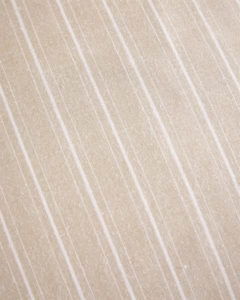 Bettwäsche Beige-Weiß gestreift Detail