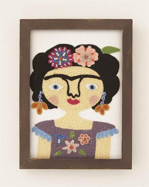Bild Frida, Baumwolle, Holz