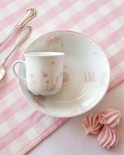 Frühstücksgeschirr rosa