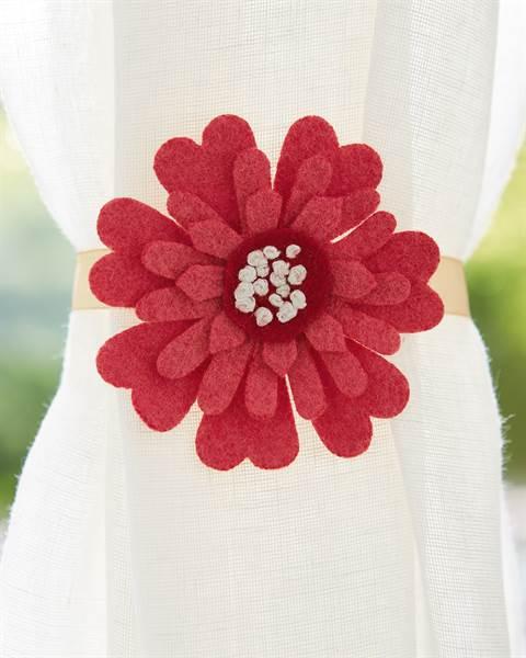 Gardinenraffer Filzblüte