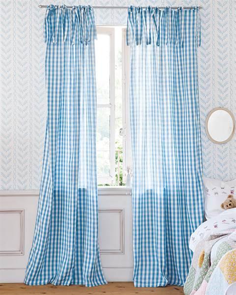 Vorhang Ginghamkaro blau