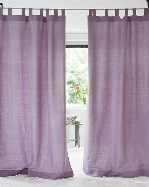 Vorhang Halbleinen flieder