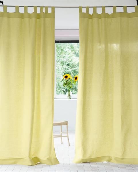 Vorhang Halbleinen gelbgrün