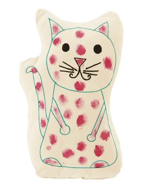 Kissen, Katze, weiche Baumwolle, inklusive Synthetikfüllung