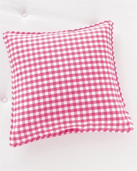 Kissenhülle Ginghamkaro Pink