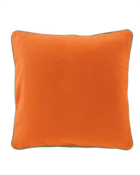 Kissenhülle orange - grüner Keder