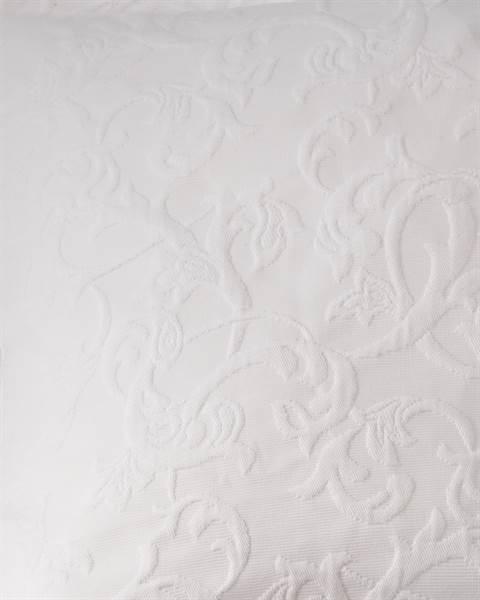 Kissenhülle Pique Baumwolle weiß Detail
