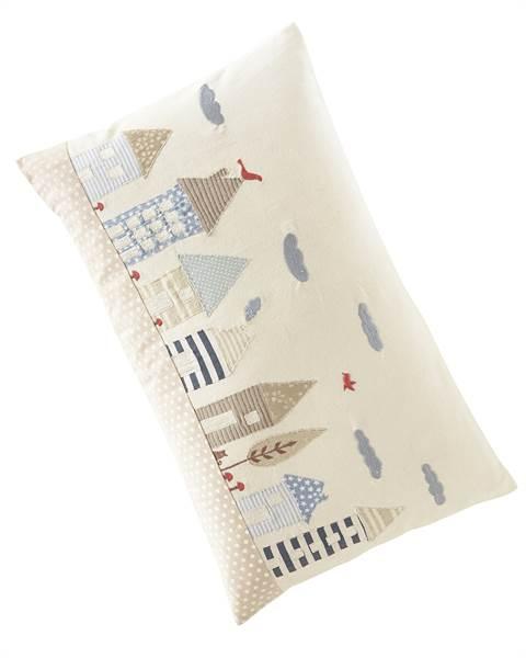 Kissenhülle mit Häuschen, Baumwolle