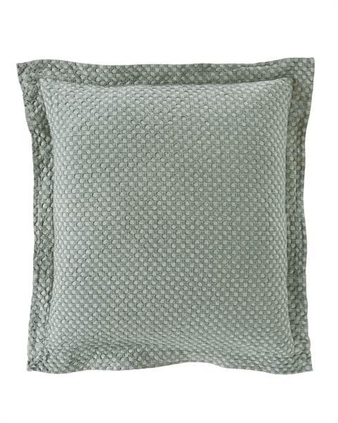 Kissenhülle mit Stehsaum, mattgrün, Baumwolle