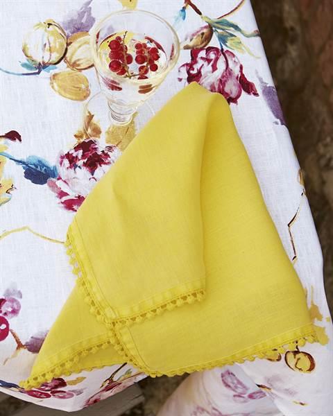 Leinenserviette gelb