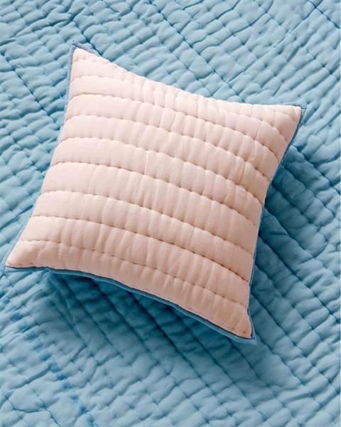 Quiltkissenhülle rosa-hellblau