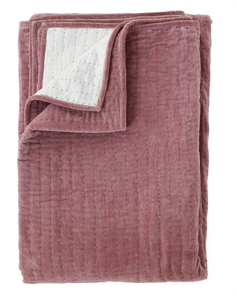 Samtquilt Dusty Rose, Baumwolle