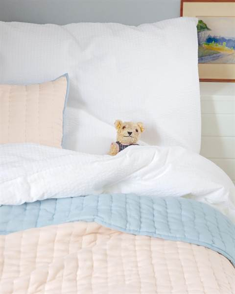Bettwäsche Seersucker weiß