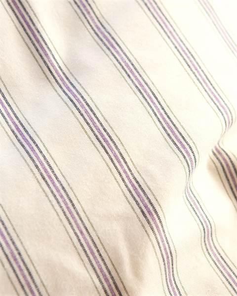 Streifenbettwäsche creme-violett