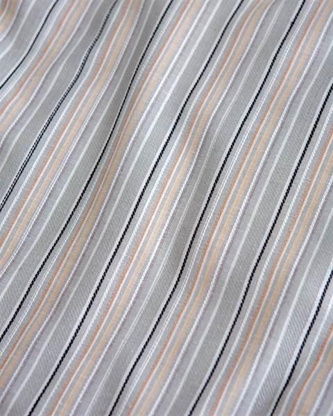 Streifenbettwäsche graugrundig