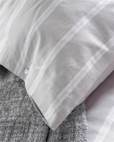 Bettwäsche Platingrau mit Streifen