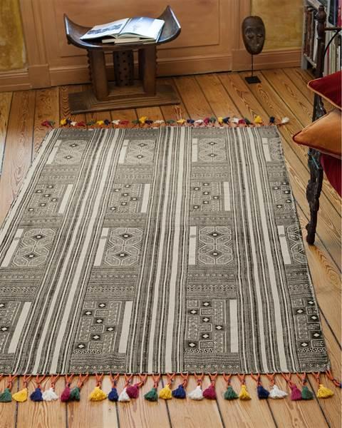 Teppich Ethno mit Troddeln