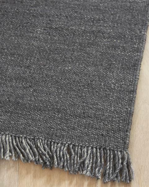 Teppich, grau, Viskose, Wolle