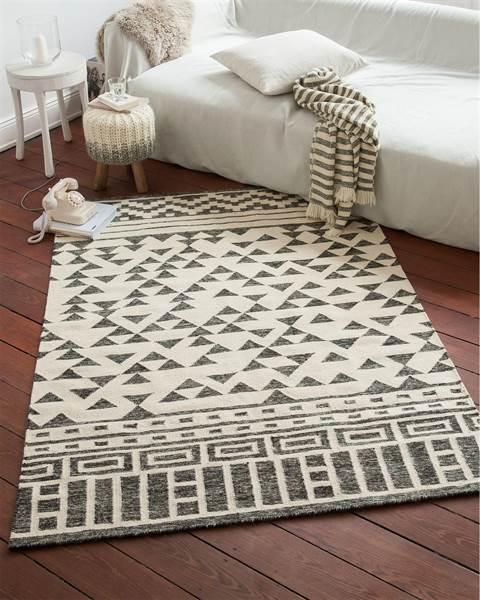 Teppich Kontraste, schwarz-weiß