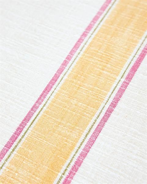 Tischdecke mit Blockstreifen Detail