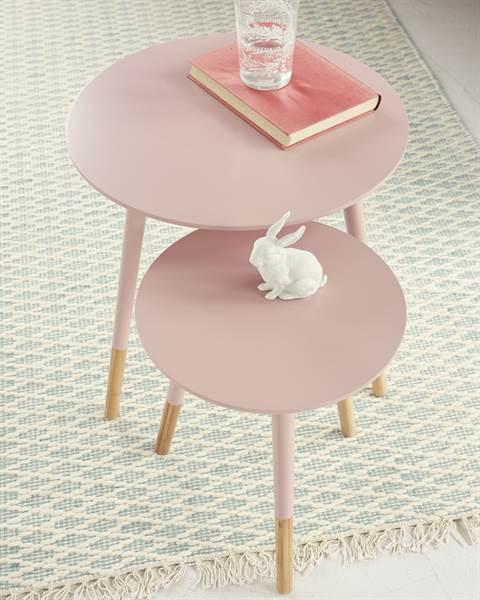 Tisch, Set, rosa, MDF, Bambus, Holz