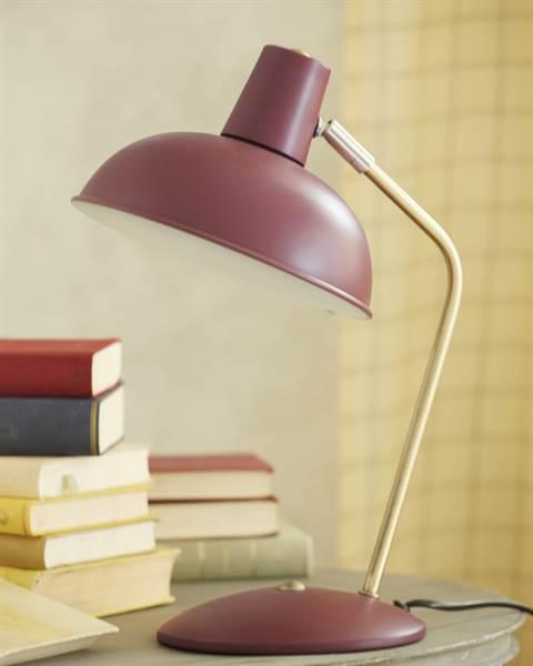 Tischlampe burgunderrot, Metall,