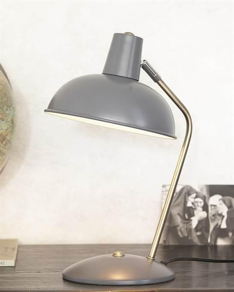 Tischlampe grau, Metall